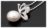 Butterfly Limitation Pearl Jewelry Fashion Vintage Necklace