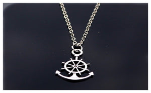 Love Vintage Silver Plated Anchor Necklace For Women