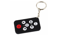 Mini Infrared IR TV Remote Control 7 Keys Button Key Chain Ring