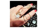 Golden Stack Plain Women Party Accessories Star Adjustable Ring