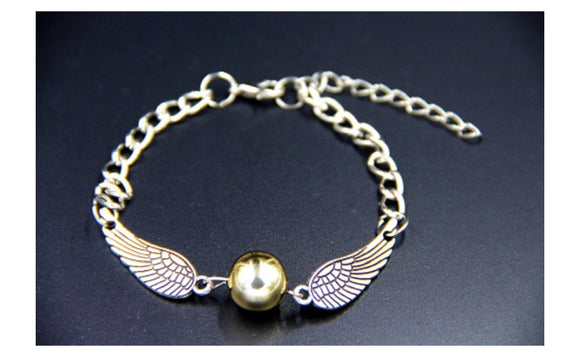 Fashion Trendy Vintage Charm Golden Snitch Bracelet