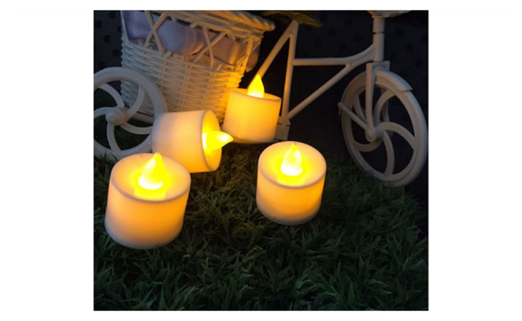 Flameless Candles Amber Decorative Yellow Led Electronic Candle Light