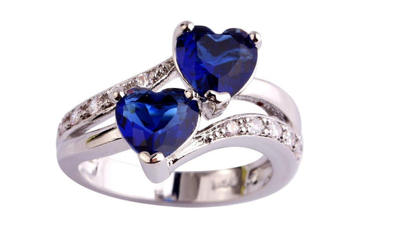 New Women Heart Dazzling Multicolor Ring for Women