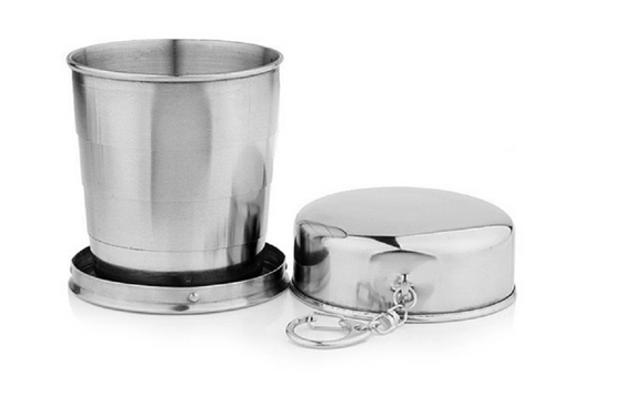 60ml Stainless Steel Folding Cup Traveling Outdoor Camping Mug