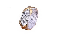 Women's X Silver Plated Golden Wedding Ring Fashion Jewelry