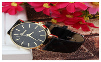 Faux leather Geneva Watches Candy Color Quartz Watch