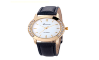 Luxury Leather Quartz Wrist Dress Watch Montre Femme for Women