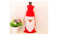 Wine Bottle Christmas Dinner Table Decoration Santa Claus Cover Bag