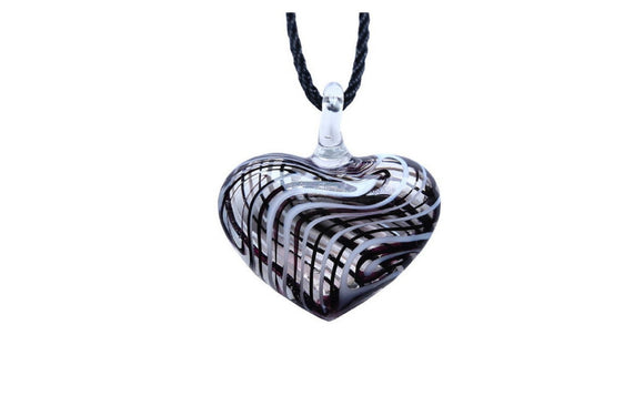 3D heart Lampwork Murano Glass Necklace For Women