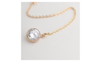 Gold Plated Crystal Statement Necklace for Women