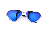 Heart Shaped Colorful Women UV Sun Glasses