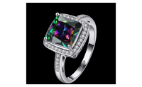 Colorful AAA Cubic Zirconia Engagement Ring For Women-7
