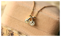 Jewelry New Fashion Rhinestone Cherry Necklace For Women