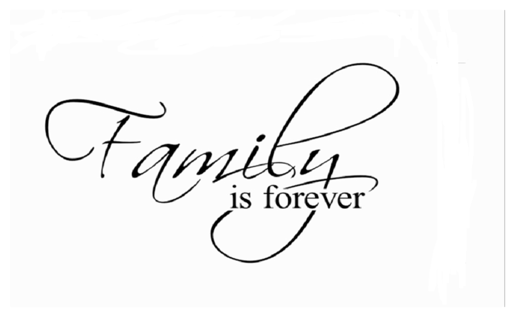 family is forever home decor creative quote wall decals