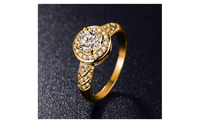 Noble Round Gold Plated Micro Pave AAA Cubic Zirconia Luxury Ring-(7)