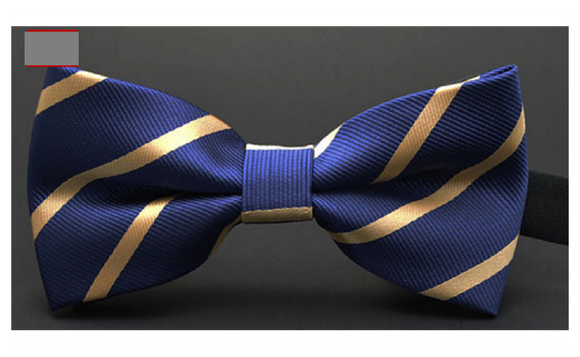Fashion Tuxedo Bow Tie Groom Wedding Party Colorful Striped For Mens