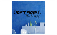 Don't Worry be Happy Removable Art Vinyl Quote Wall Sticker