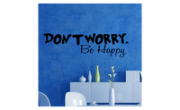 Don't Worry be Happy Removable Art Vinyl Quote Wall Sticker - sparklingselections