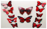 3D PVC Butterfly Wall Stickers Home Decor Accessories