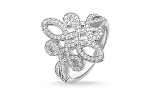 Shinus Fashion Cubic Zirconia Sliver Plated Engagement Ring(7)
