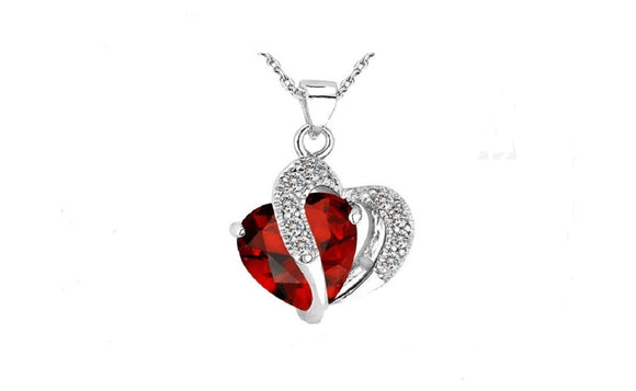 My Heart is only for You Austrian Crystals Heart Shape Pendant