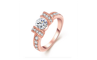 Crystal Rose Gold Plated Wedding Ring For Women-7