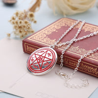 Dean Pentagram Pentacle Silver Pendant Necklace for Women
