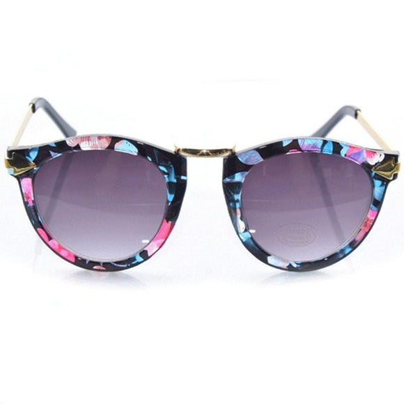 Trendy Acetate Frames Round Sunglasses For Beauty