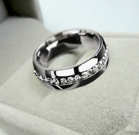 Crystal Cubic Zirconia Eternity Wedding Ring for Women (L419)