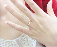 Cute Crystal Bow Finger Rings for Women (R371)
