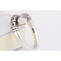 Silver Plated Women Finger Ring (Adjustable)