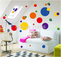 New Cartoon Creative Colorful Circle Wall Stickers - sparklingselections