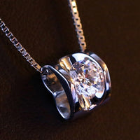 3D Love Heart Shape Shining Charming Pendant for Necklace