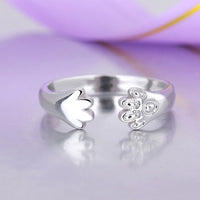 Crystal Cat Claw Rings for Women