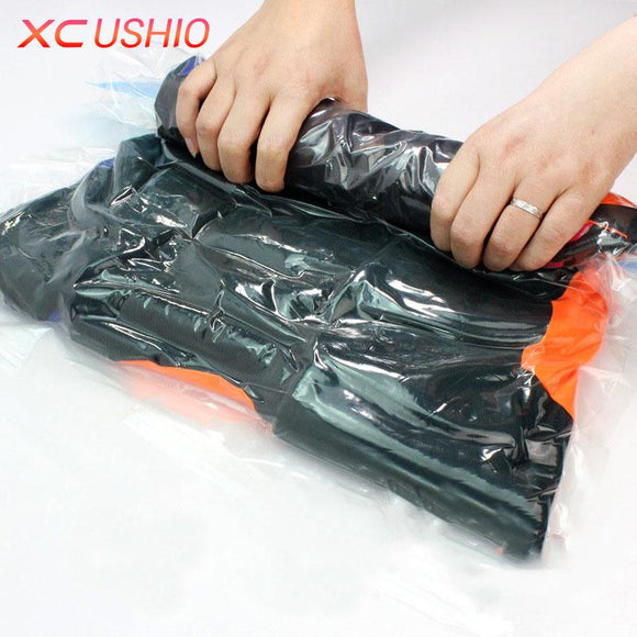 Vacuum Compressed Bag Transparent Travel Pouch Seal Bag
