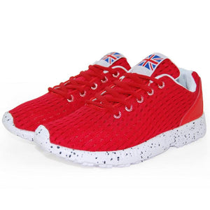 red color sport running shoes for man size 8,9
