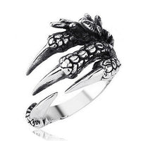 Vintage Gothic Stainless Steel  Dragon Claw Rings for Men (316L)