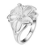 Silver Plated Leaf Ring for Women