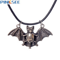 Retro Angle Wing Bat Pendant Necklace for Men
