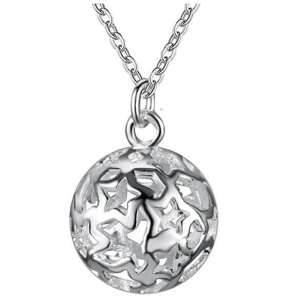 Silver Plated Wave Pendant Necklaces