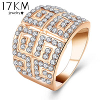 Silver Color Zircon Wedding anelli Crystals Ring for Women