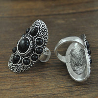 Vintage Boho Beach bohemian Punk Rings for Women (Adjustable)