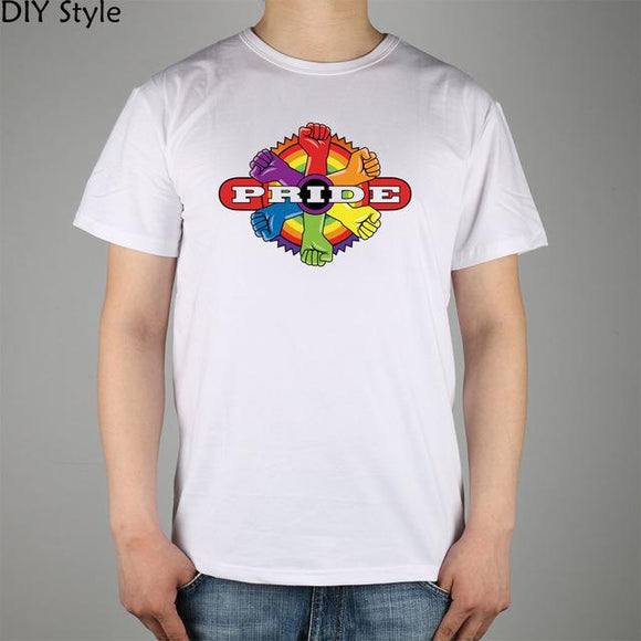 rainbow power PRIDE T-shirt for men size sml
