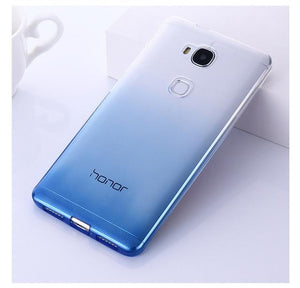 new Silicon Case Ultra Thin Transparent Back Cover For Huawei Honor 5X