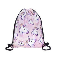 new Pink unicorn printed Backpack for women