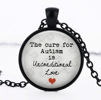 Autism My Child is Autistic Superhero Pendant Necklace for Women
