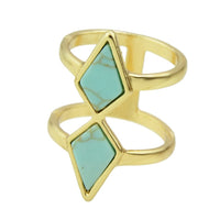 Boho Rhombus Shape Geometric Finger Rings for Women