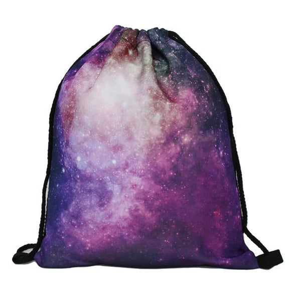 new galaxy pink printed backpack for man