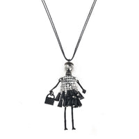 Fashion Crystal Doll Pendant Necklaces for Women