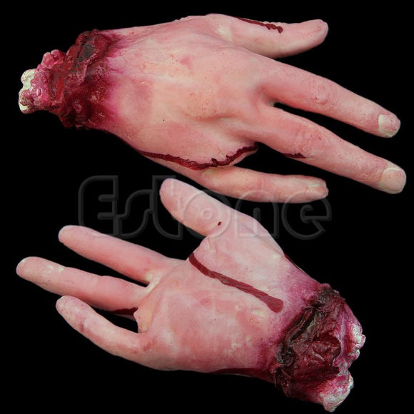 Halloween Horror Props Lifesize Bloody Hand - Halloween Decorations